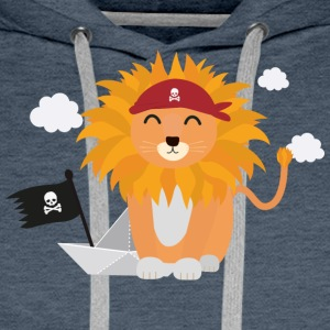 Lion Pirate with Pirateboat S4utl Hoodies & Sweatshirts - Men's Premium Hoodie