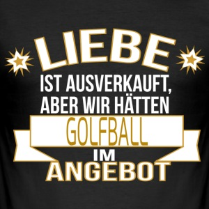 GOLFBALL T-Shirts - Männer Slim Fit T-Shirt