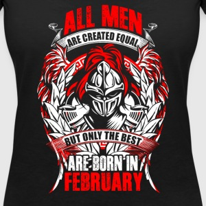 February - All men are created equal - EN Tee shirts - T-shirt col V Femme