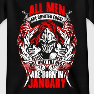 January - All men are created equal - EN T-shirts - T-shirt tonåring