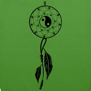 Dreamcatcher with feather, flutes and Yin and Yang - EarthPositive Tote Bag