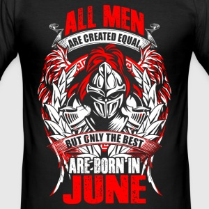 June - All men are created equal - EN T-Shirts - Männer Slim Fit T-Shirt