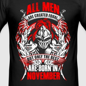 November - All men are created equal - EN T-Shirts - Men's Slim Fit T-Shirt