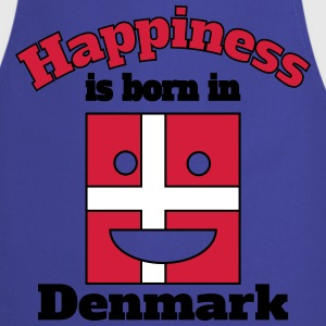 Happiness is born in Denmark  Aprons - Cooking Apron