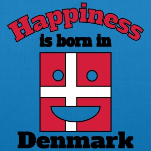 Happiness is born in Denmark Bags & Backpacks - EarthPositive Tote Bag