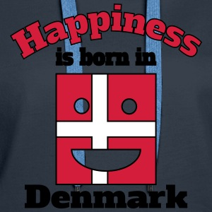 Happiness is born in Denmark Hoodies & Sweatshirts - Women's Premium Hoodie