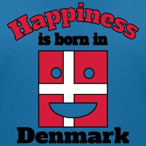 Happiness is born in Denmark T-Shirts - Women's V-Neck T-Shirt