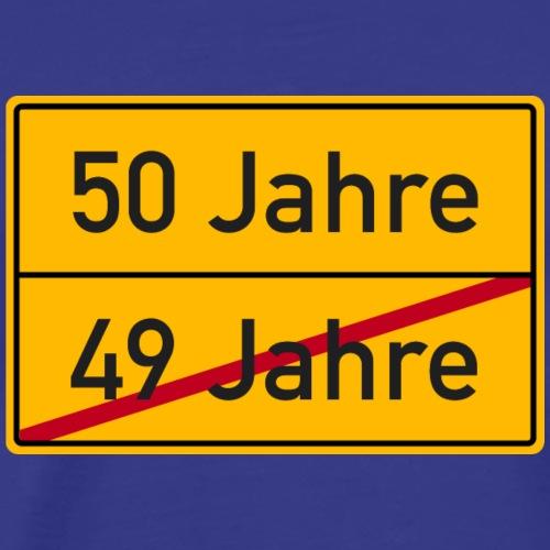 Verkehrsschild Ortstafel 50. Geburtstag 50 Jahre