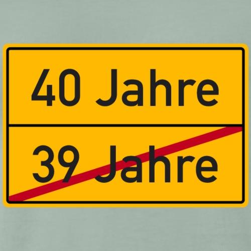 Verkehrsschild Ortstafel 40. Geburtstag 40 Jahre