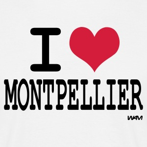 Blanc i love montpellier - j'aime montpellier T-shirts - T-shirt Homme