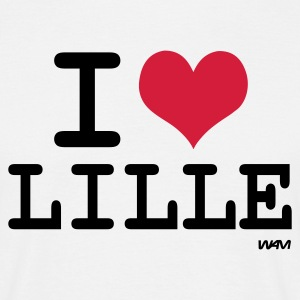 Blanc i love lille - j'aime lille T-shirts - T-shirt Homme