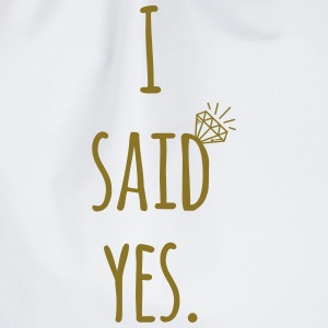 Hen Party: I said yes - Bride Shirt Taschen & Rucksäcke - Turnbeutel