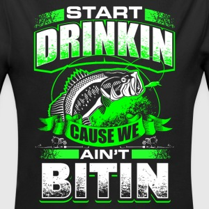 Start Drinkin - Fishing - EN Babybody - Økologisk langermet baby-body