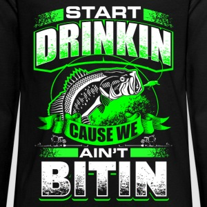 Start Drinkin - Fishing - EN Langarmshirts - Teenager Premium Langarmshirt