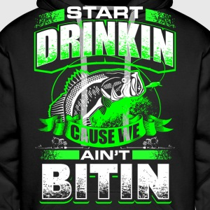 Start Drinkin - Fishing - EN Sweat-shirts - Sweat-shirt à capuche Premium pour hommes