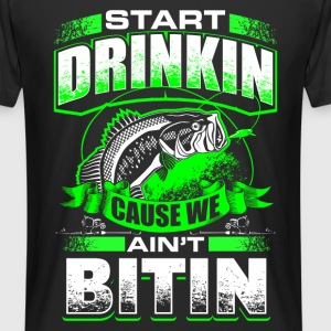 Start Drinkin - Fishing - EN T-shirts - Herre Urban Longshirt