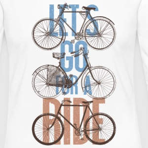 Fahrrad Retro Vintage Let's Go For A Ride Bike Langarmshirts - Frauen Premium Langarmshirt