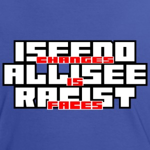 Frauen Kontrast-T-Shirt Racist Faces - Frauen Kontrast-T-Shirt