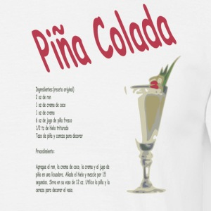Wit pina_colada T-shirts - Mannen T-shirt