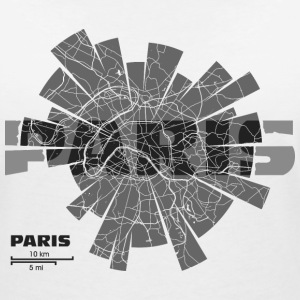 Paris Map T-Shirts - Women's V-Neck T-Shirt