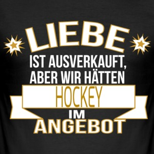 HOCKEY T-Shirts - Männer Slim Fit T-Shirt