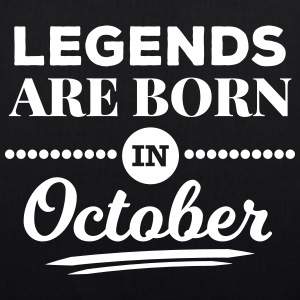legends are born in october birthday October  Bags & Backpacks - EarthPositive Tote Bag