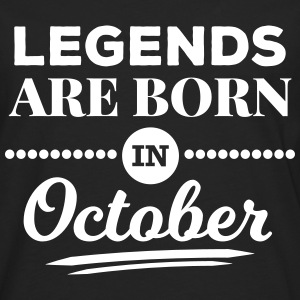 legends are born in october Geburtstag Oktober  Langarmshirts - Männer Premium Langarmshirt
