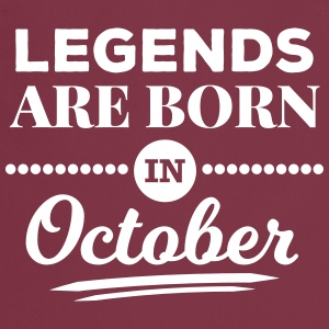 legends are born in october birthday October   Aprons - Cooking Apron