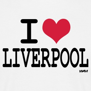 White i love liverpool by wam Men's T-Shirts - Men's T-Shirt