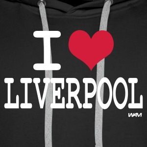 Black i love liverpool by wam Jumpers - Men's Premium Hoodie