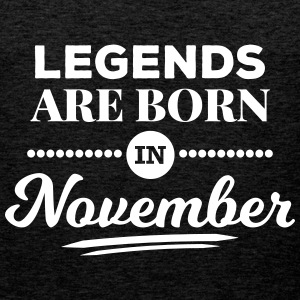 legends are born in november birthday saying Sports wear - Men's Premium Tank Top