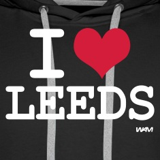Black i love leeds by wam Jumpers