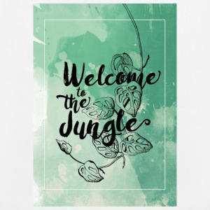 Welcome to the Jungle – green - Bio-Stoffbeutel