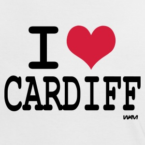 White/black i love cardiff by wam Women's T-Shirts - Women's Ringer T-Shirt