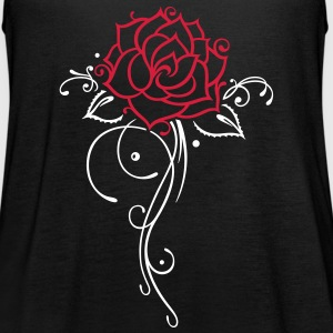 Bunte Rose mit filigranem Ornament und Blättern Tops - Women's Tank Top by Bella