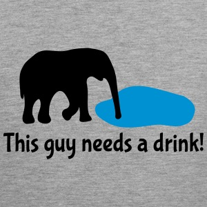 Drinking Alcohol Elephant Sports wear - Men's Premium Tank Top