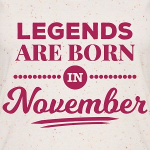 legends are born in november Geburtstag Spruch Tops - Frauen Bio Tank Top