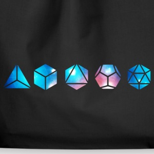 Platonic solids, building blocks of life, elements Bags & Backpacks - Drawstring Bag