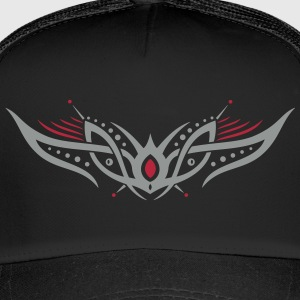 Filigranes Tribal Tattoo mit Kugeln, space style Caps & Mützen - Trucker Cap
