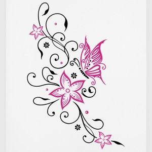 Flowers with filigree floral ornament, butterfly Other - Mouse Pad (vertical)