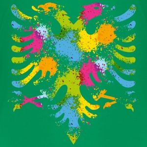 Splattered Albanian Eagle T-Shirts - Teenager Premium T-Shirt