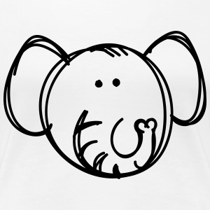 Elephant drawing  T-Shirts - Women's Premium T-Shirt