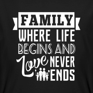 Family where life begins T-Shirts - Männer Bio-T-Shirt