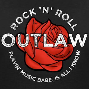 Rock 'n' Roll Outlaw (Ladies) - Vrouwen T-shirt met V-hals
