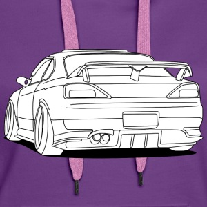 cool car white Pullover & Hoodies - Frauen Premium Hoodie