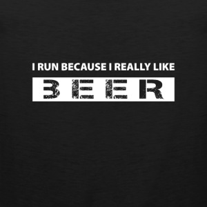 I run because i really like Beer Vêtements de sport - Débardeur Premium Homme