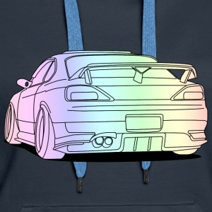 cool car colourful Puserot - Naisten premium-huppari