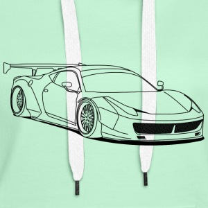 custom car outlines Puserot - Naisten premium-huppari