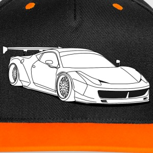 custom car white Caps & Hats - Contrast Snapback Cap