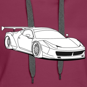 custom car white Hoodies & Sweatshirts - Women's Premium Hoodie
